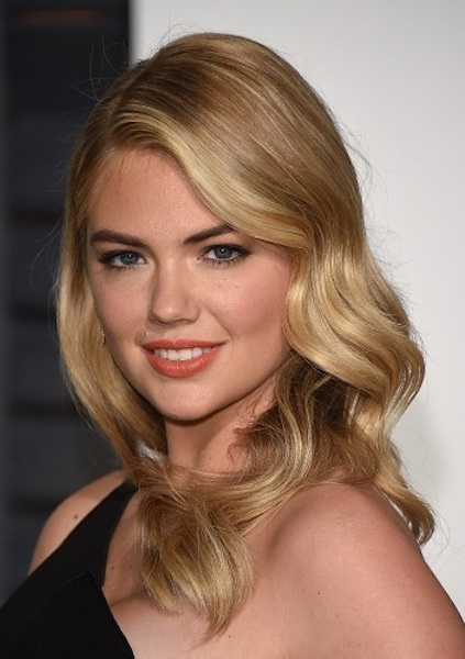 Kate Upton's Long Blonde Hair as Glamorous Hollywood Waves