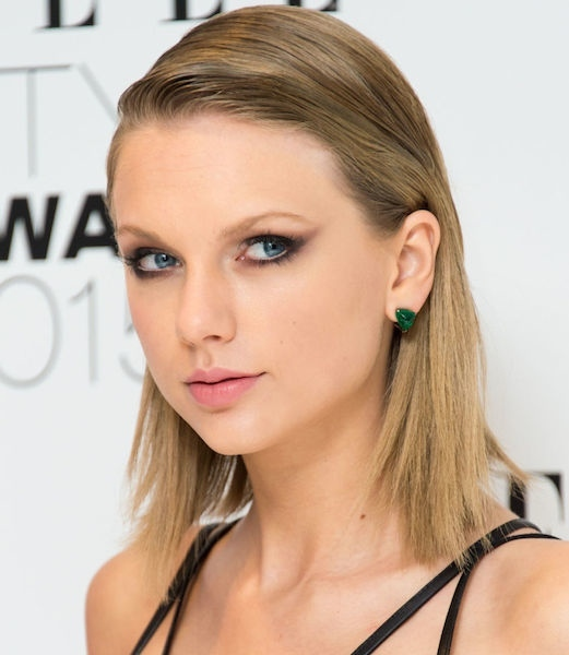 Taylor Swift's Ultra Sleek Slicked-back Bob.