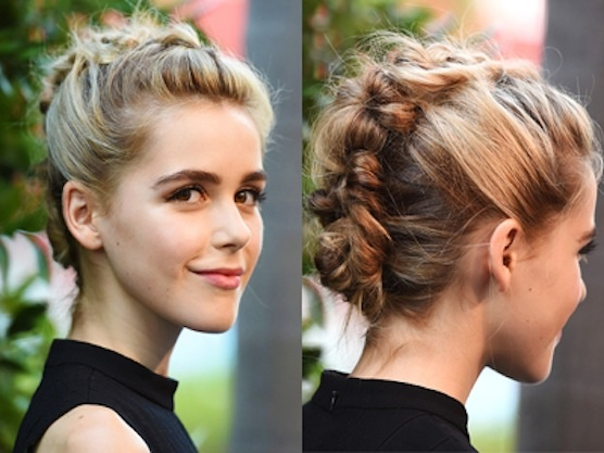 Kiernan Shipka's Braided Faux-Hawk Up Do