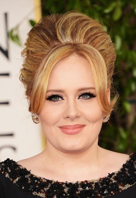 Adele Glamorous 60's Beehive Updo With Bangs
