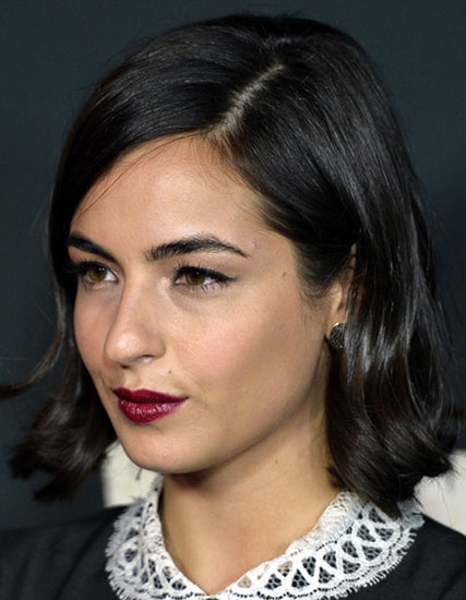 Alanna Masterson's Bob Hairstyle with Curled Ends