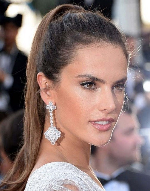 Alessandra Ambrosio's High Ponytail At Cannes 2014