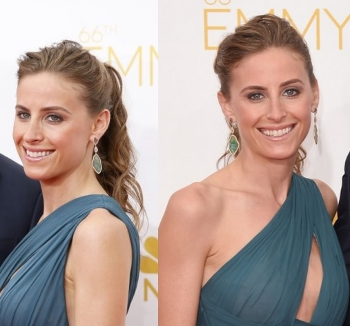 Alexi Ashe's Messy Ponytail At Emmy Awards 2014