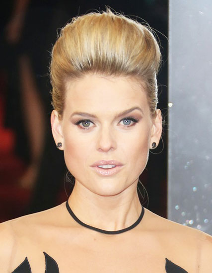 Alice Eve's Elegant Bouffant French Twist Updo