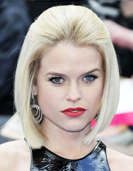 Alice Eve's Angled Bob with Voluminous Top