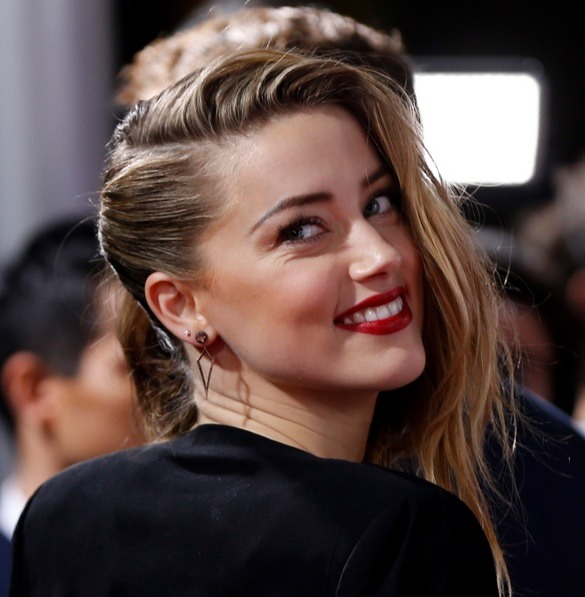 Amber Heard's Messy Side Updo