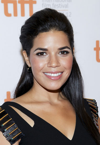 America Ferrera's Gorgeous Half Up Bouffant Updo