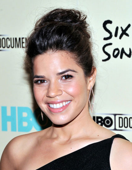 America Ferrera's Chic Messy High Bun