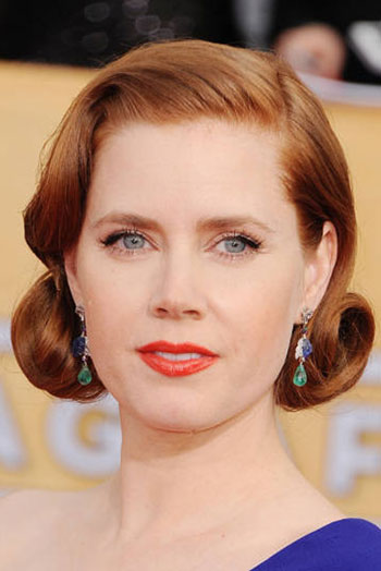 Amy Adams' Elegant Vintage Faux Bob Hairstyle at the 2014 SAG Awards