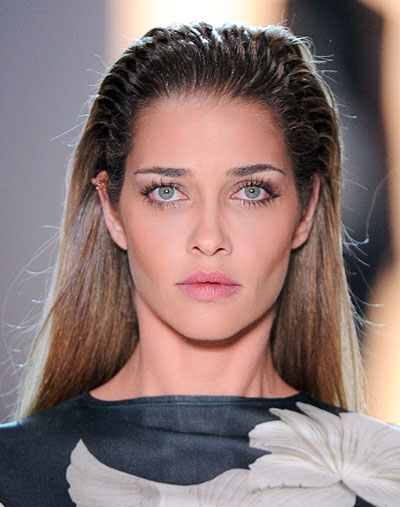 Ana Beatriz Barros' Edgy Wet Look Long Straight Hairstyle