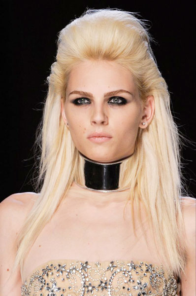 Andrej Pejic S Bouffant Long Straight Hairstyle Party