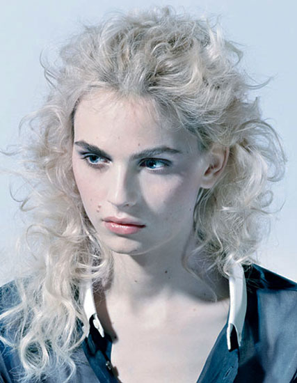 Andrej Pejic's Roughed-Up Curly Long Hairstyle