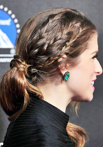 Anna Kendrick's Cool Half-Braided Ponytail Hairstyle