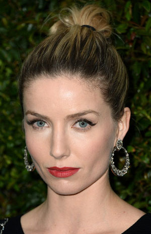 Annabelle Wallis' Hip Casual High Updo
