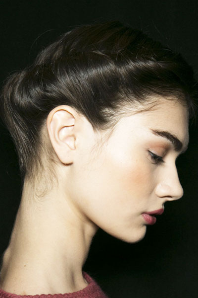 Antonina Vasylchenko S Rolled Updo Hairstyle Prom
