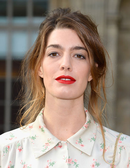 Antonine Peduzzi's Sassy Disheveled Bun Hairstyle