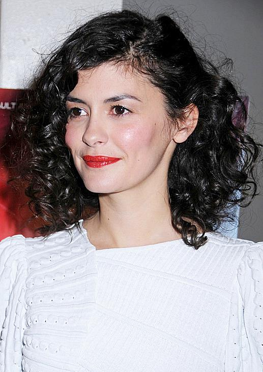 Audrey Tautou's Big Curly Hairstyle