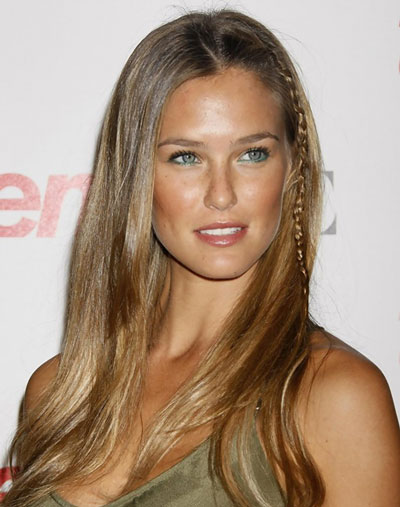 Bar Refaeli's Pretty Straight Long Hairstyle