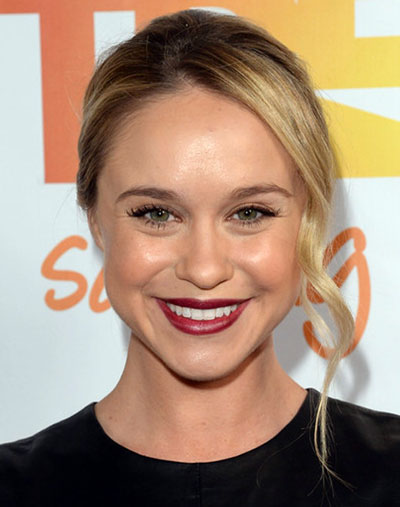 Becca Tobin's Sweet Bun with Side Tendrils Hairstyle