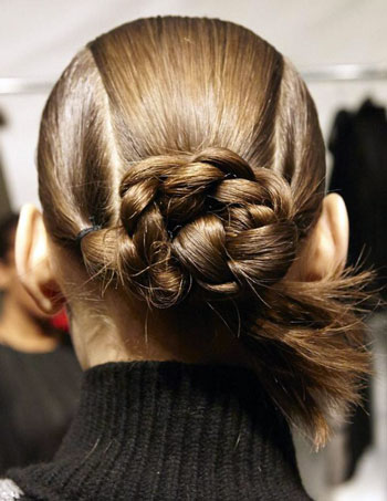 Braided Bun at Bibhu Mohapatra Fall/Winter 2014 Fashion Show