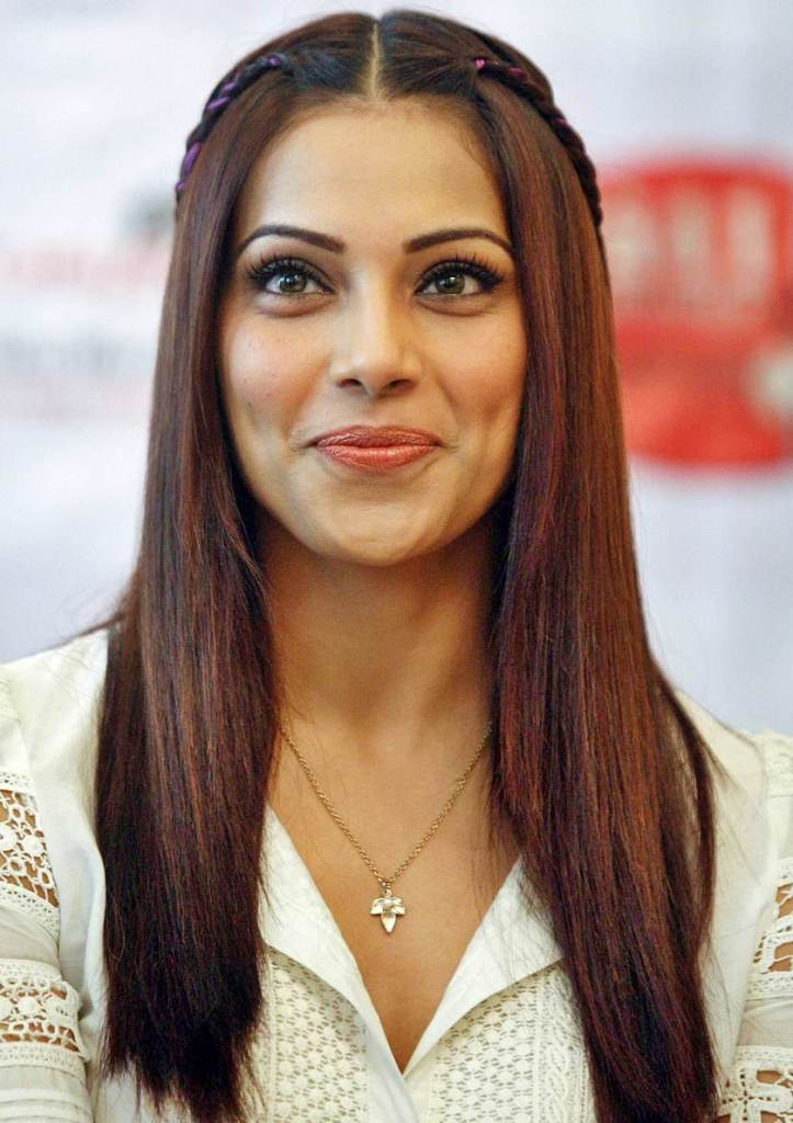 Bipasha Cute Basu's Thin French Braid Hairstyle
