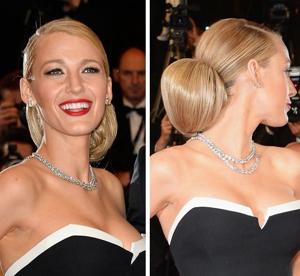 Blake Lively's Chignon At Cannes Film Festival 2014