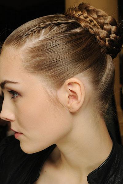 Posh Braided Bun Hairstyle