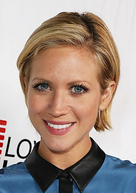 Brittany Snow's Boyish Sleek Bob Hairstyle