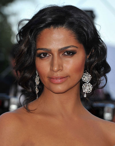 Camila Alves' Glamorous Curly Loose Updo