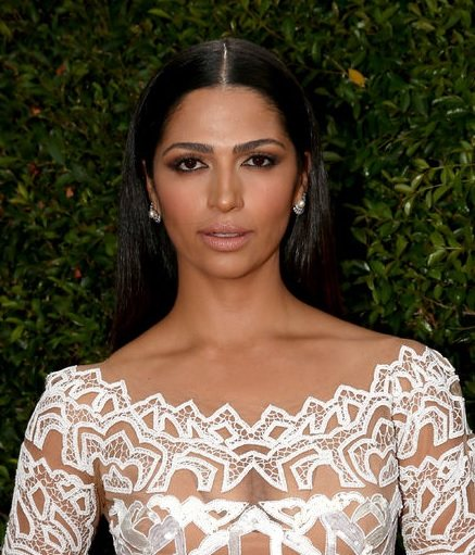 Camila Alves' Middle Parted Long Hairstyle At Emmy Awards 2014