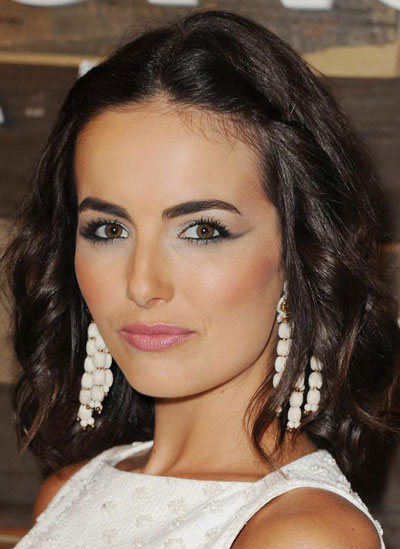 Camilla Belle S Medium Wavy Hairstyle Prom Party Fall