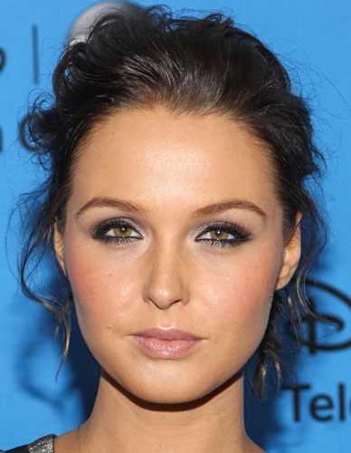 Camilla Luddington's Casual Tousled Curly Updo