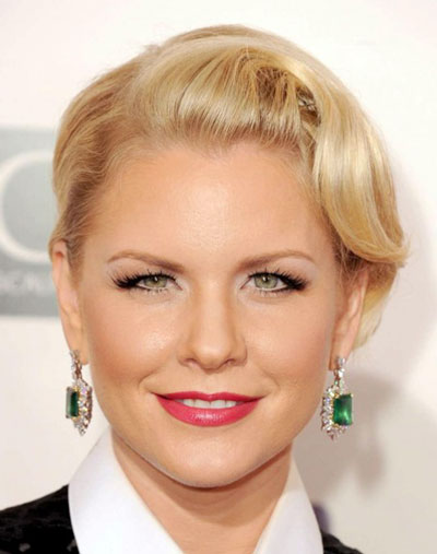Carrie Keagan's Stylish Modern Finger Wave Updo