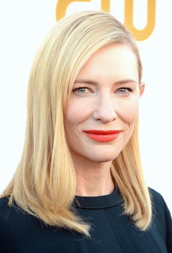 Cate Blanchett's Stylish Medium Straight Hairstyle at the 2014 Critics' Choice Awards