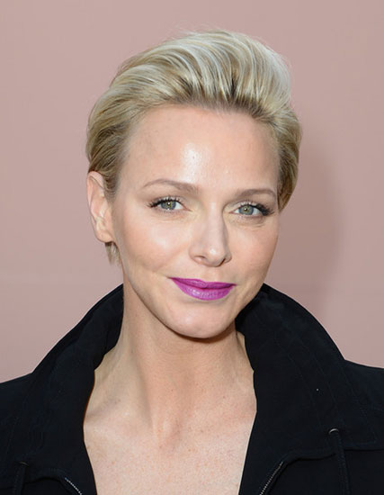 Charlene Wittstock S Short Pompadour Hairstyle Party