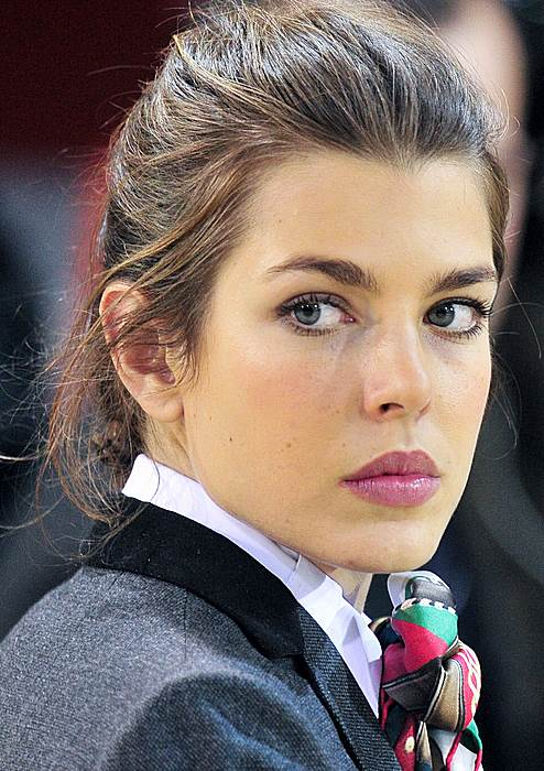 Charlotte Casiraghi Laid-Back Messy Updo For Special Occasions