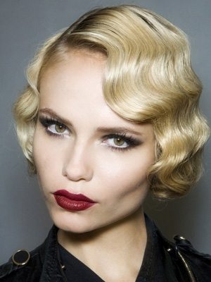 Chic Blond Fingerwave Bob