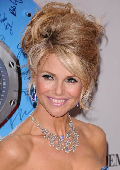 Christie Brinkley's Elegant Voluminous Messy Beehive