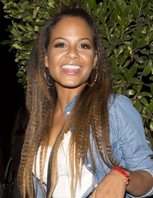 Christina Milian's Long Crimped Hair