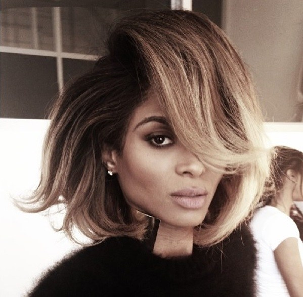 Ciara's Bouffant Deep Side Parted Hairstyle