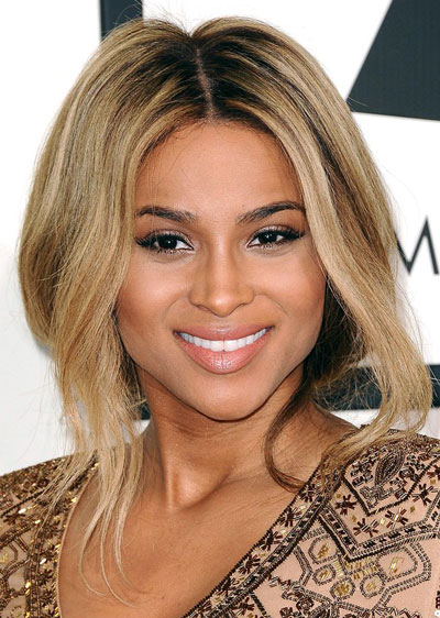 Ciara's Sexy Loose Updo at the 2014 Grammy Awards