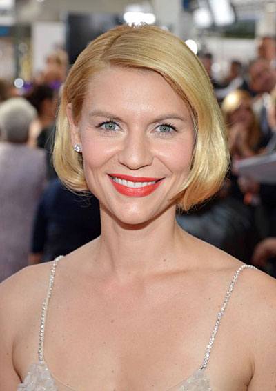 Claire Danes' Chic Faux Bob Hairstyle at the 2013 Primetime Emmy Awards