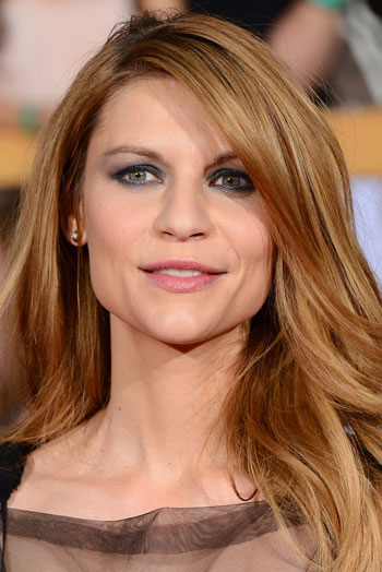 Claire Danes' Sexy Long Messy Hairstyle at the 2014 SAG Awards
