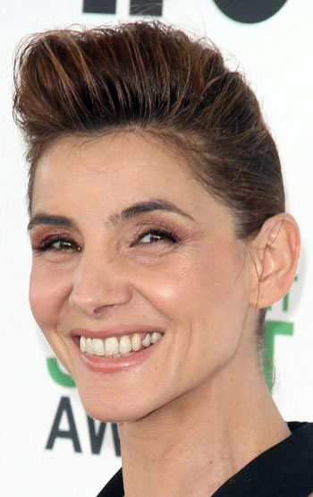 Clotilde Courau's Cool Pompadour Updo
