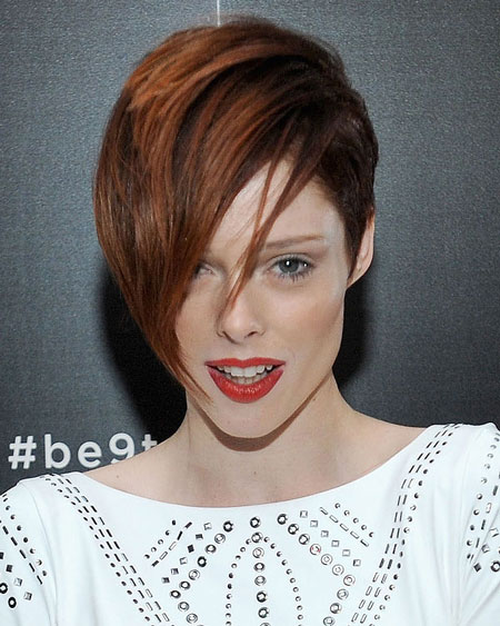 Coco Rocha's Punk Short Hair with Choppy Bangs Hairstyle
