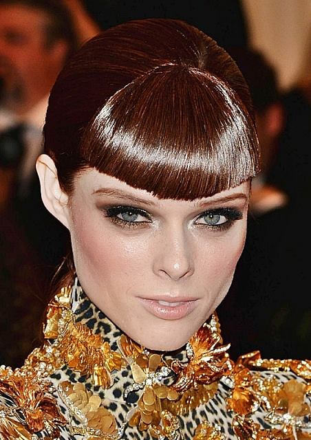 Coco Rocha's Edgy Sleek Ponytail With Blunt Bangs
