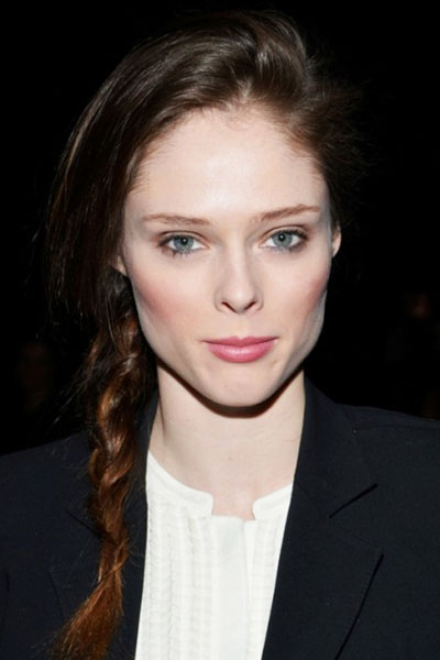 Coco Rocha's Pretty Side Braided Hairstyle