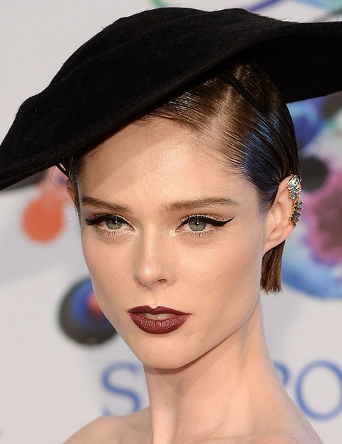 Coco Rocha's Sleek Side Parted Bob At CFDA Fashion Awards 2014