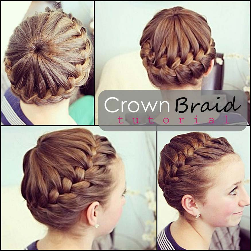 Crown Braided Hairstyle Tutorial
