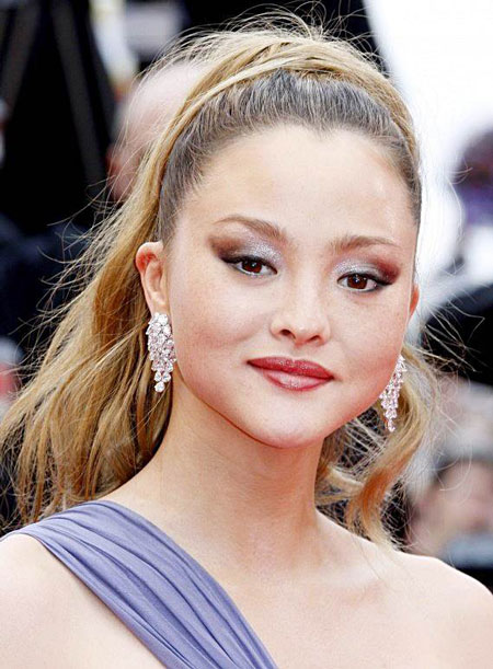 Devon Aoki's Sexy Messy High Ponytail